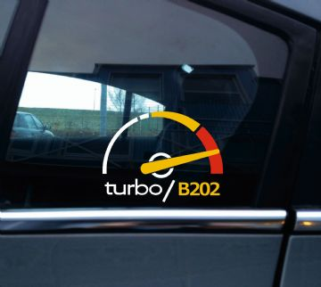 Turbo B202 boost sticker / decal - for Saab 900 Turbo | retro classic